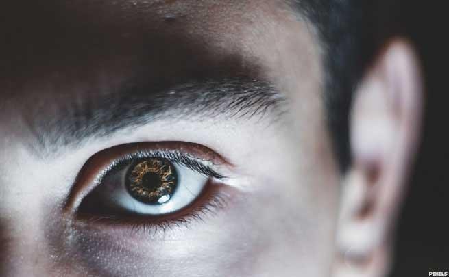 1.眼睛高气